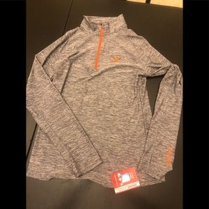 Polyester 1/4 zip Texas Longhorn pullover
